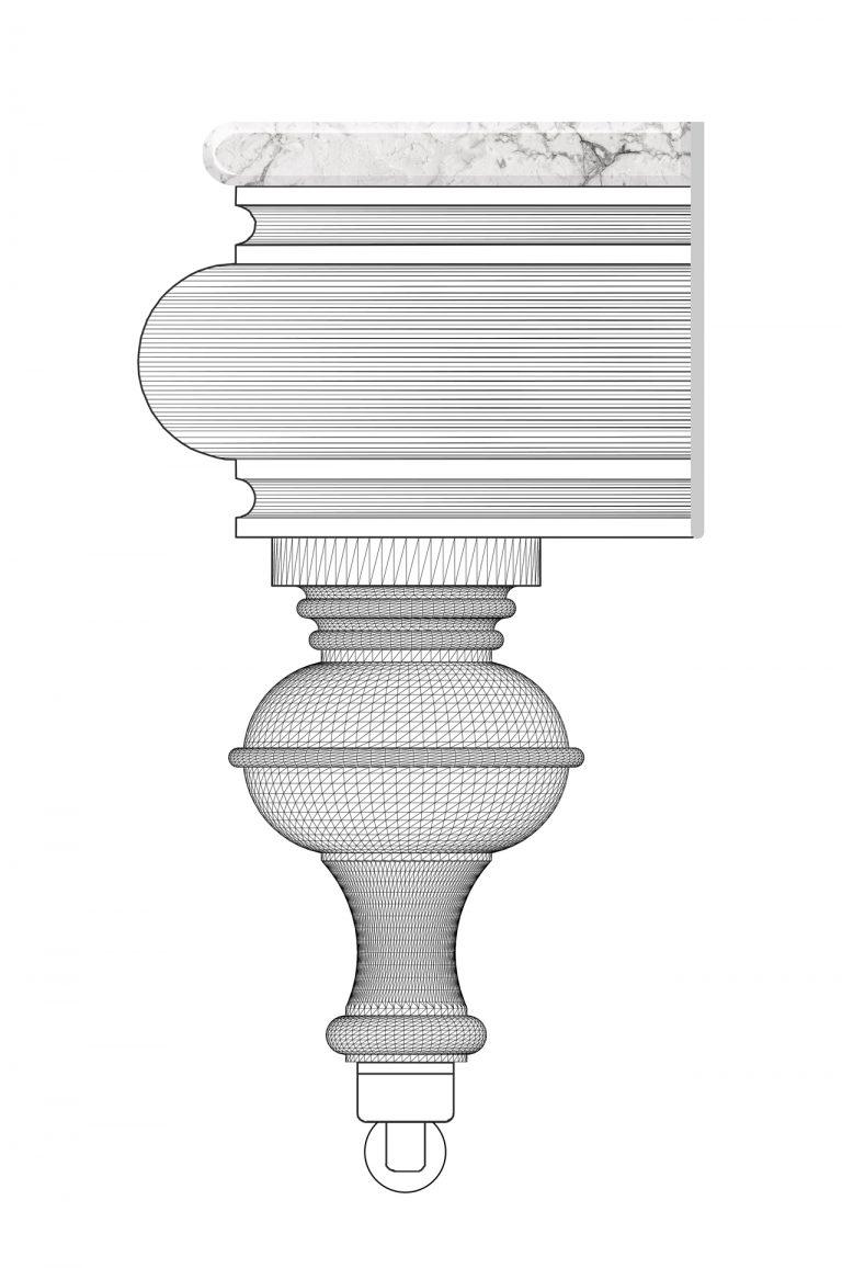 Vektörel masa ayağı çizimi